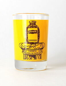 Vintage Aspirin Glass Advertising Pill Taking Bathroom Juice Pharmaceutical Cup