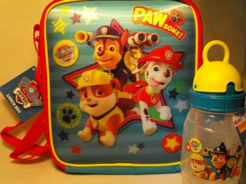 Paw Patrol Lunch Bag and Drinks Bottle PAW PATROL 3D KIDS CHILDS LUNCH BAG GIFT