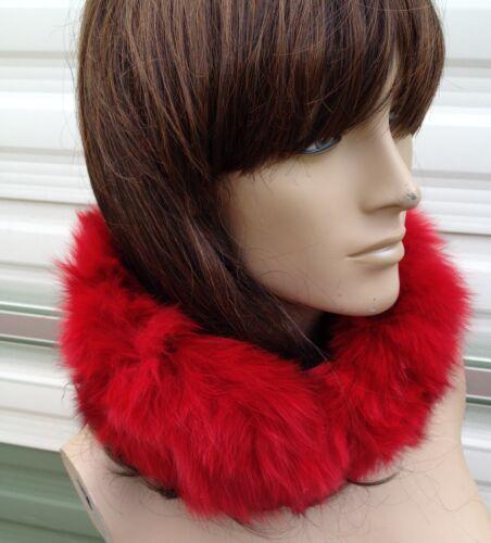 Rosso brillante reale vera pelliccia di volpe pelliccia Scalacollo basso di lenza Sciarpa Unisex Da Sci Outdoor