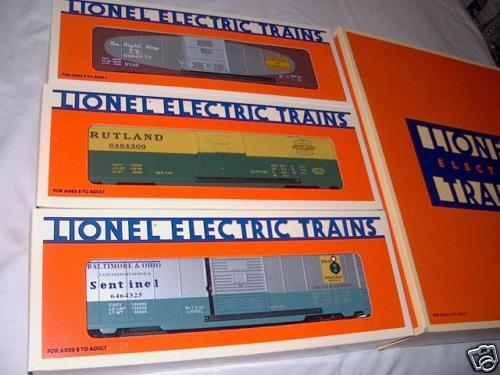 O Gauge: LIONEL 6464 Boxcar Series V, 3 boxcars, 1996