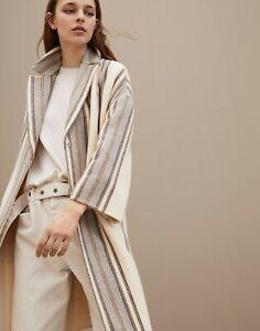 7995-Brunello-Cucinelli-NEW-Monili-Hand-Finished-Blanket-Coat-48-Wool-Cashmere
