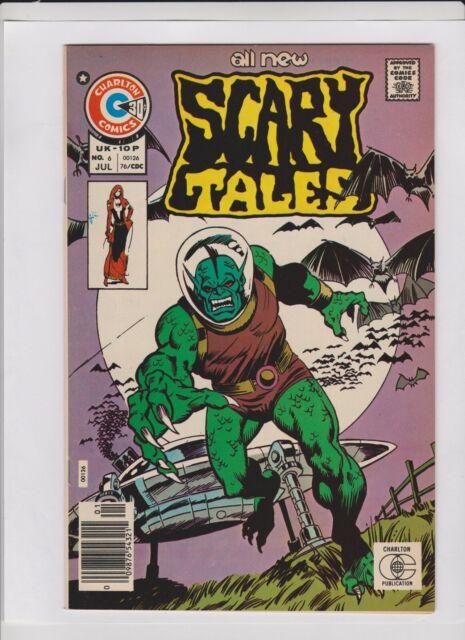 SCARY TALES #6 NM, flying saucer - monster alien cover, Charlton horror 1976