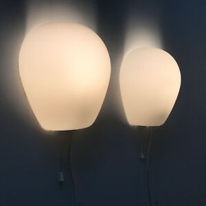PAIR-Mid-Century-WALL-LAMPS-Sconces-039-WALL-SHELL-2681-039-by-WILHELM-WAGENFELD-1952