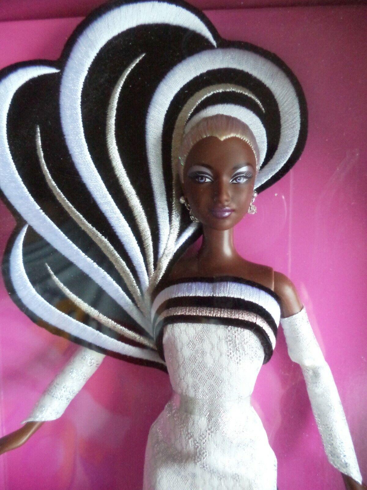 Bambola Barbie NRFB 45° Anniversario Bob Mackie Afro American 2003 new in box