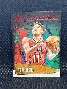2018-Panini-Court-Kings-Emerging-Artists-Trae-Young-99-Ruby-RC-HOT
