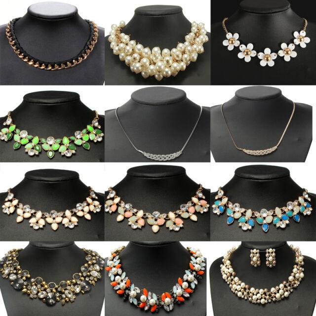 Fashion Women Jewelry Necklace Chain Statement Bib Choker Chunky Collar Pendant