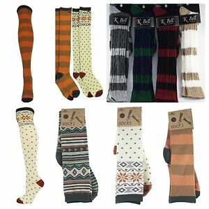 3f63b08252d Women O Neill Knee High   K.Bell Knee High Socks Cute Design Pattern ...