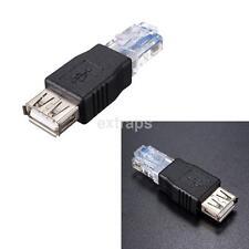 RJ45 Male to USB AF A Female Adapter Socket LAN Network Ethernet Router Plug PSC