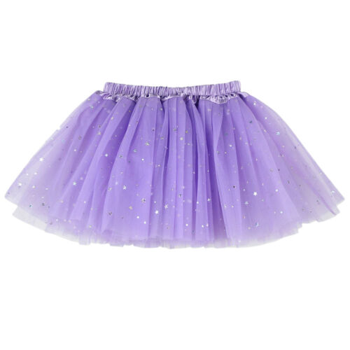 Kids Girls 3 Layers Princess Tulle Tutu Skirt Party Ballet Dance Dress Dancewear