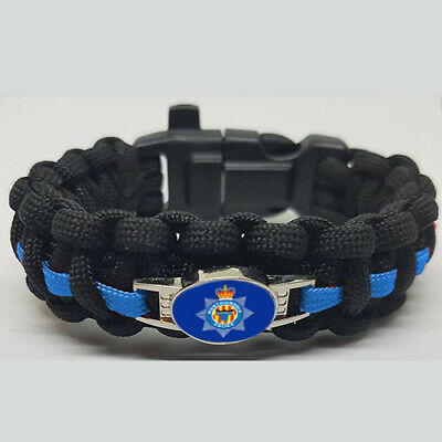 Northumbria Police Badged Survival Bracelet Edge.