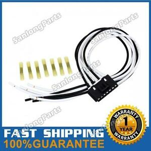 s l300 7 wire pigtail blower motor resistor plug connector for chevy gmc 7-wire blower motor resistor harness at fashall.co
