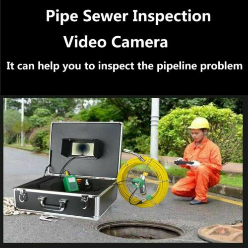"""Hot 50M Sewer Waterproof Camera 7/"""" LCD Drain Pipe Pipeline Inspection System"""