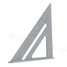 "Alloy Speed Square Protractor Miter Framing Measurement Ruler For Carpenter 7"""