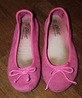 ALIVE pinke Ballerina Gr 33 Schläppchen Sandalen Halbschuhe Slipper Schuhe