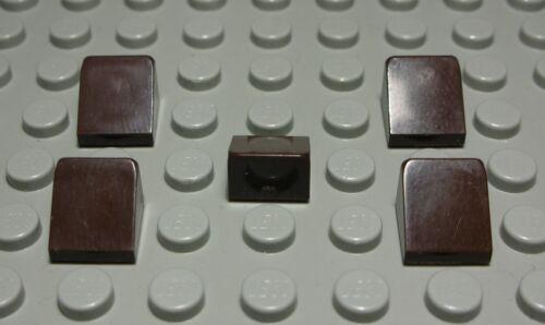 1142 # Lego Pierre oblique positif 1x1x0,6 Marron foncé 10 Pièces