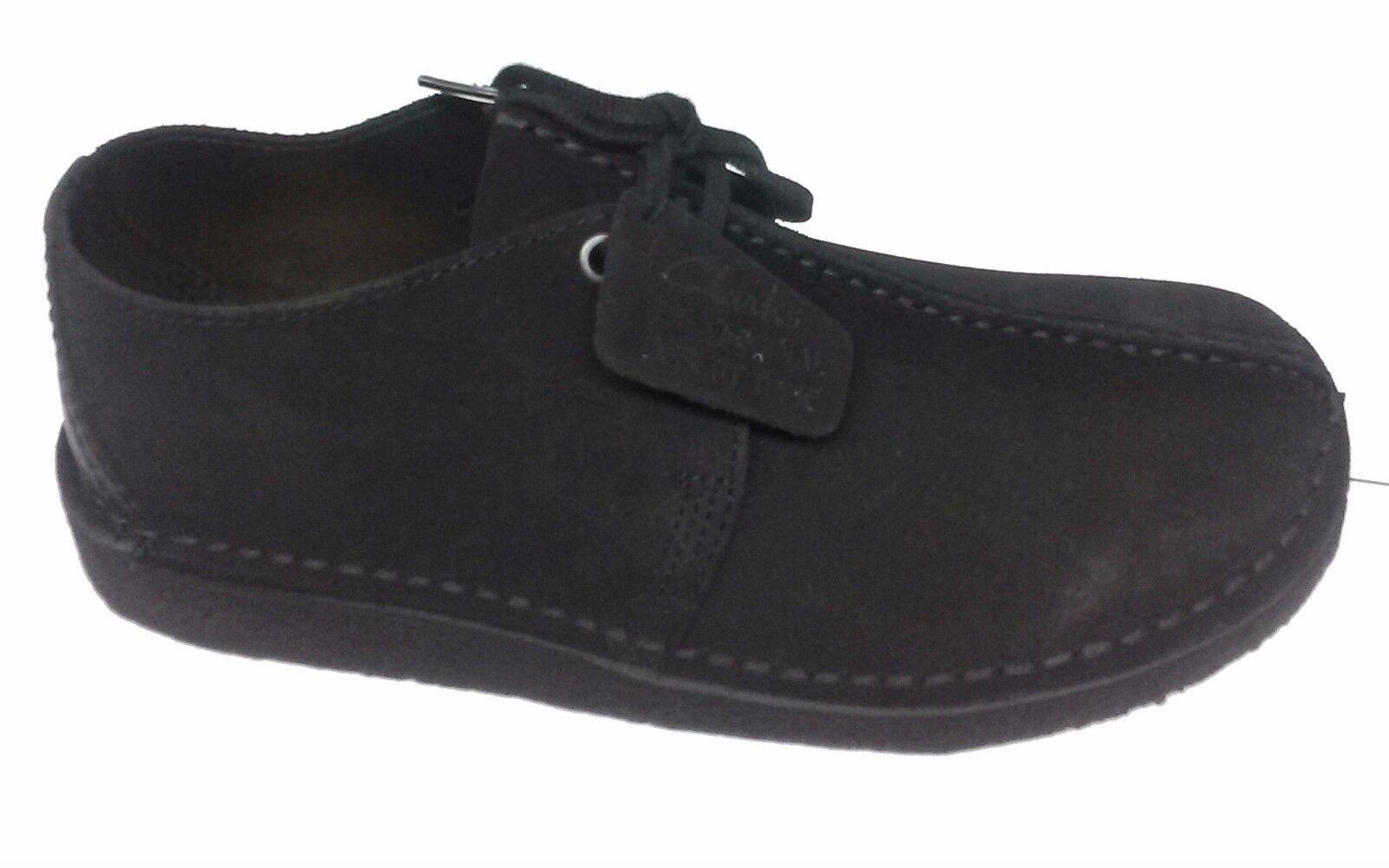 MEN'S Clarks Original DESERT TREK casual shoes  ALL BLACK SUEDE 13258