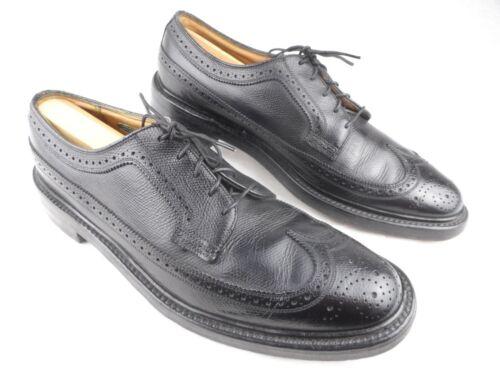 Vintage Florsheim Imperial Wingtip Black Leather M