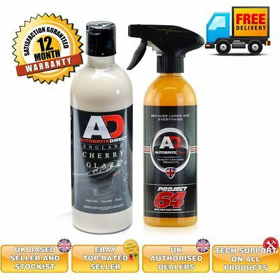 Autobrite Cherry Glaze And Autobrite Project 64 Car Polish Wax And Sealer 500ml Ebay