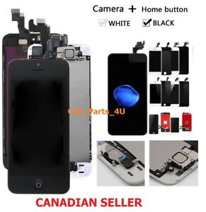 LCD-Touch-Screen-Digitizer-For-iPhone-5-5s-SE-6-6s-7-8-Plus-Home-Button-Camera