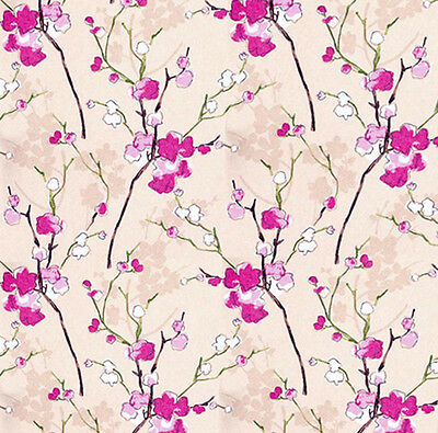Dolls House Wallpaper 1/12th 1/24th scale Pink  Quality Paper #26