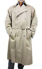 YSL Yves Saint Laurent Mens Vtg Retro Green Trench Coat Jacket Long sz XL AS31
