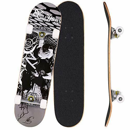 Skateboard completo Pro Skateboard Deck a Doppio Kick 9 Layer canadese