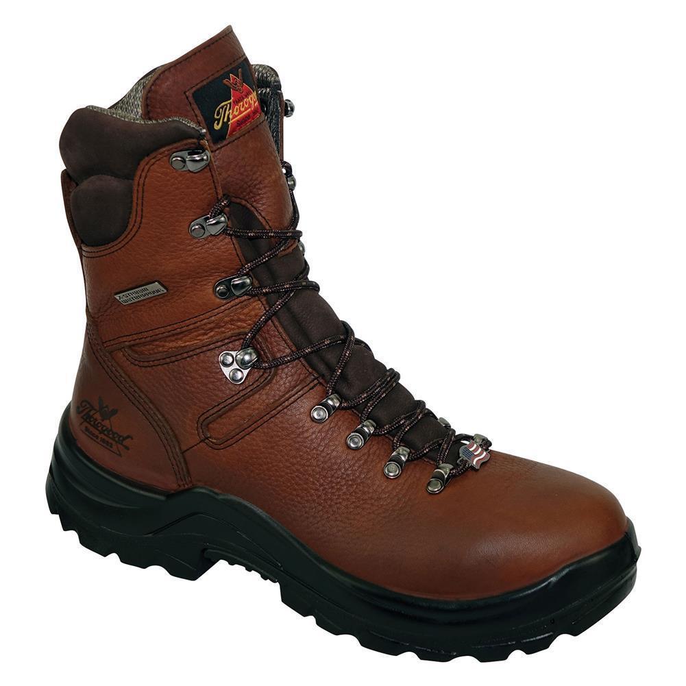 Thgoldgood 8  Omni Brown Waterproof Steel Toe Lace Up Work Boots 804-3268