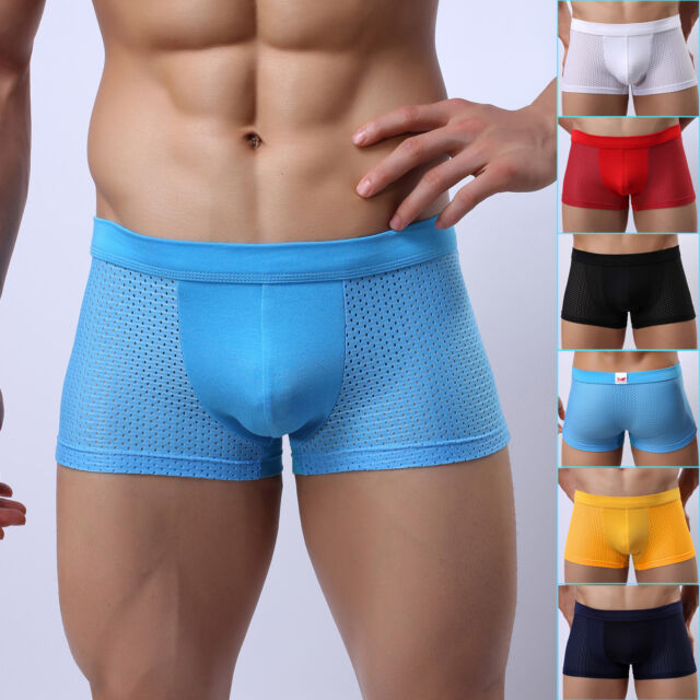 Strong Sexy Men's Casual Big Holes Underwear Shorts Pants GYM Sports Boardshorts