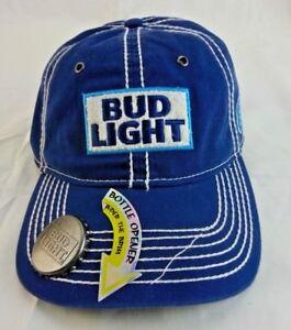 Image is loading Bud-Light-Adult-Adjustable-Buckle-Back-Baseball-Cap- 7f796f15b446
