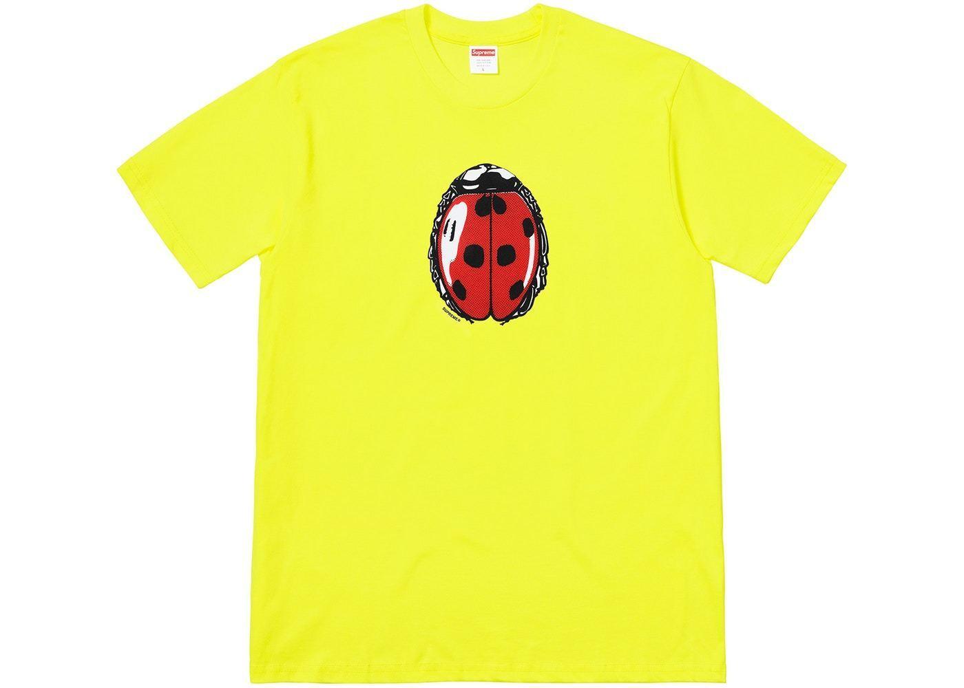 Supreme Ladybug Tee Bright Gelb Größe XL XLarge NEW 100% Authentic