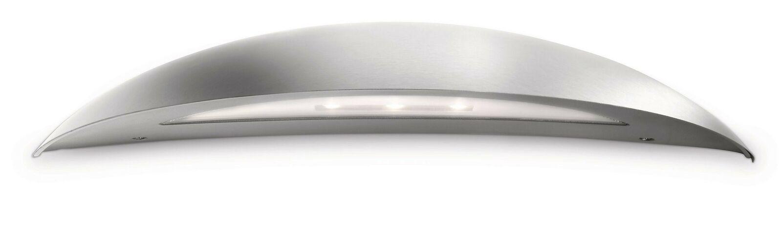 Philips ledino wandaussenleuchte acero inoxidable 210lm 6,5w 33cm de ancho 2700k