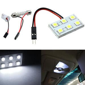 6-SMD-5050-LED-T10-BA9S-Dome-Festoon-Car-Interior-Light-Panel-Lamp-DC12V-White