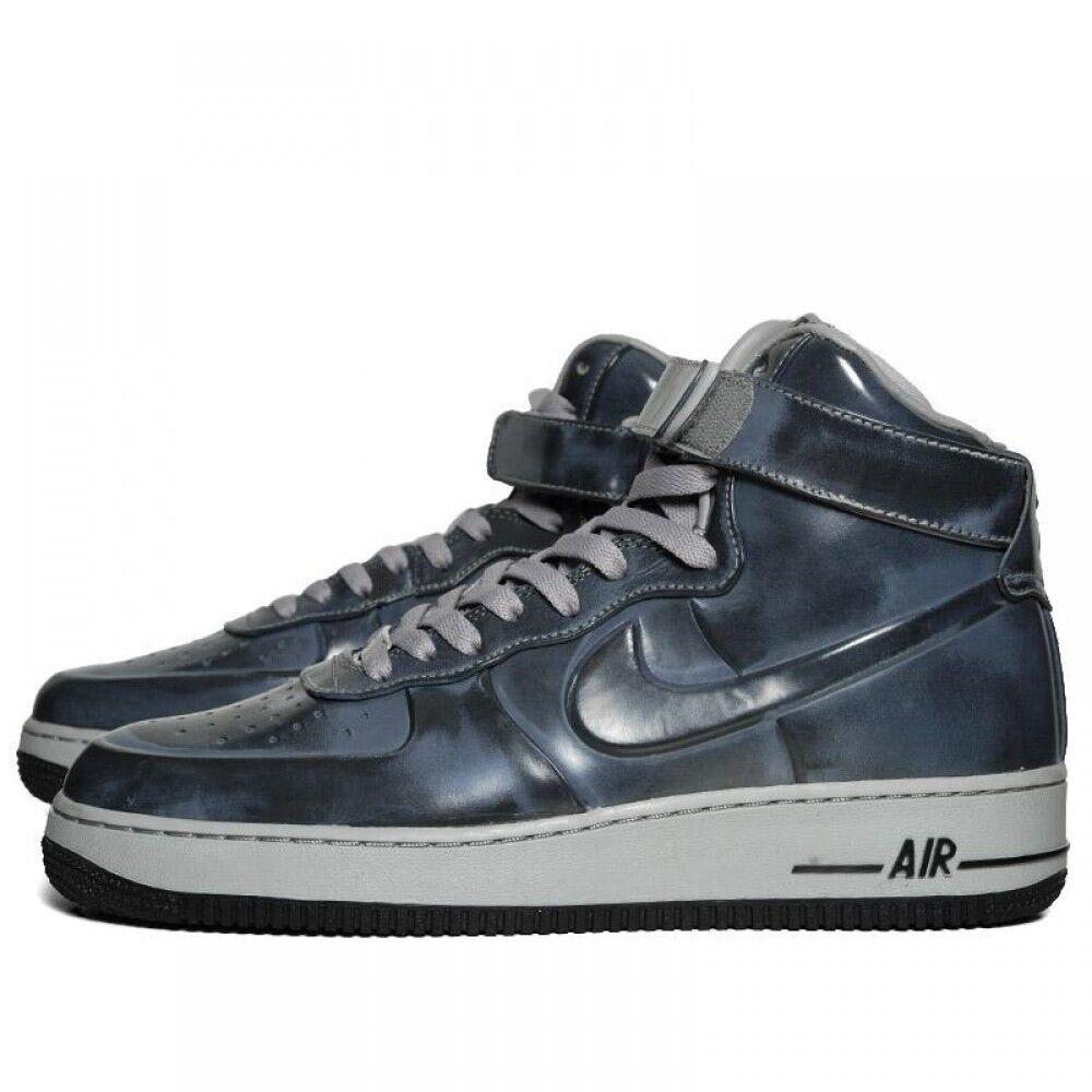 Nike air force di alto vt supremo 469775 001 mediumgrey / nero taglia