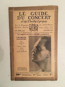 El Guía de La Concierto Y Las Teatro Letra Charles Panzera N º 3 1930