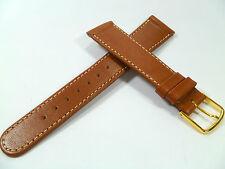 20 mm BRUN BRACELET MONTRE BOUCLE DE PIN bracelet LISSE CUIR BRACELET DE MONTRE
