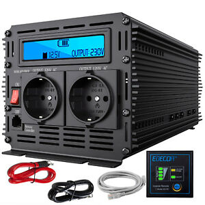 Inversor Convertidor 3000W 6000 Watt 12V 220V Power inverter LCD Multifunction