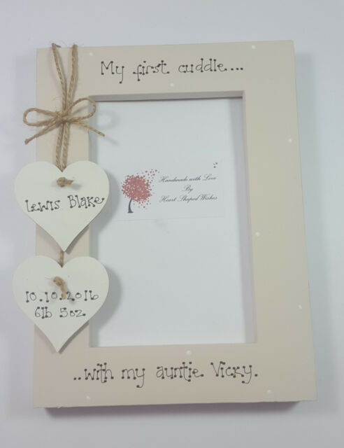 Personalised Auntie First Cuddle Baby Niece Nephew Gift 4x6 Photo