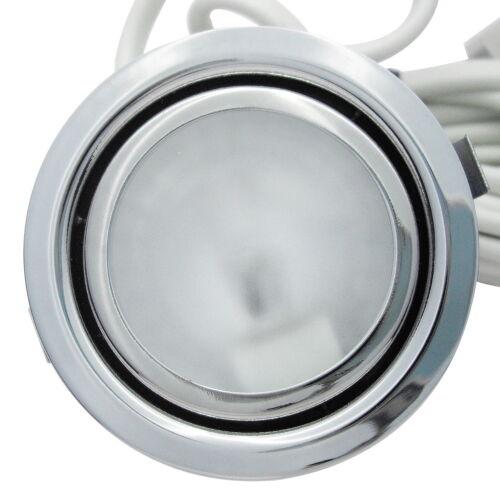 1 Stück Kleiner Halogen Möbeleinbaustrahler Merida 12 Volt 10 Watt Farbe Chrom