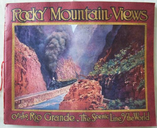 """ROCKY MOUNTAIN VIEWS ON THE RIO GRANDE RR PIKES PEAK SCENIC LINE OF THE WORLD"""
