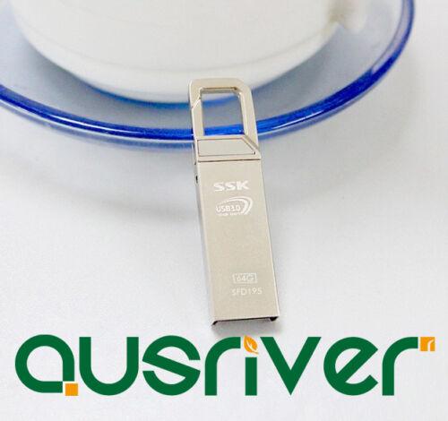 SSK SFD195 64GB USB 3.0 Flash Drive Silver
