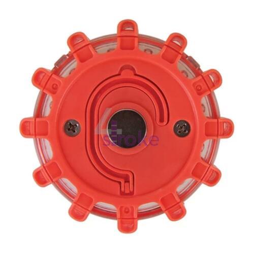 RED 15 LED MAGNETIC EMERGENCY HAZARD WARNING SAFETY ROAD BEACON LIGHT