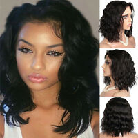 Short Body Wave Curly Full Head Wig Glueless Bob Synthetic Lace Front Wigs Pr1