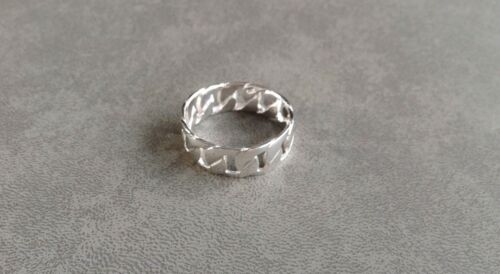 New Mens Gift Solid 925 Sterling Silver Anti Tarnish Dress Ring Size 12 by Ebay Seller