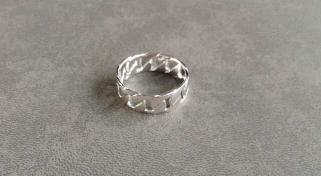 New Mens Gift Solid 925 Sterling Silver Anti Tarnish Dress Ring Size 12