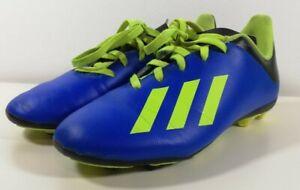 Enfants-Garcons-Adidas-X18-3-FG-Chaussures-De-Football-Taille-UK-3-bon-etat-envoi-gratuit