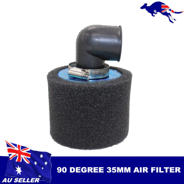 35MM AIR FILTER POD 90 DEGREE 50cc 90cc 110cc 125cc BIKE DIRT ATV QUAD PIT PRO
