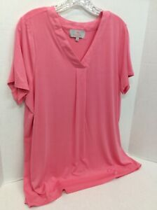 A301668-Laurie-Felt-Short-Sleeve-Rayon-Made-From-Bamboo-Blend-V-Neck-Top-Large-C