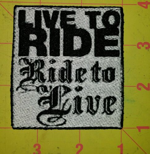 live to ride ride to live motorcycle biker embroidered vest patch iron on