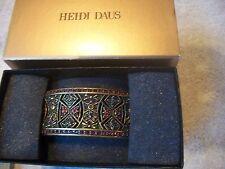 HEIDI DAUS Bracelet MASTERPIECE Ruby Red & Multi Swarovski Crystals NIB
