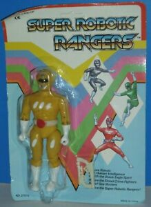 Super Robotic Rangers: Yellow Ranger {KO Power Rangers Figure}- New/Heavy Wear!
